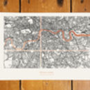 Personalised London Coordinates Map