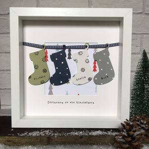 Personalised Christmas Family Tree Stocking Frame - christmas home accessories