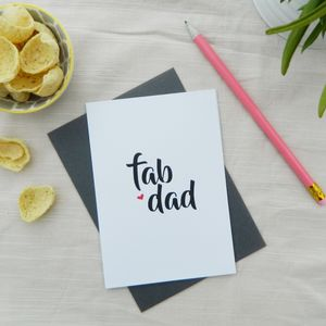 Fab Dad Greeting Card