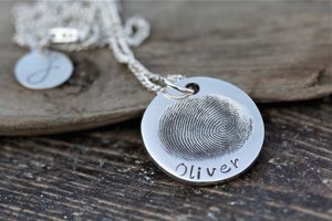 Fingerprint Coin Necklace - necklaces & pendants