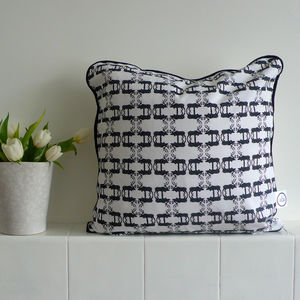 Hand Drawn Stag Piped Cushion