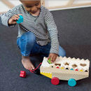 Wooden Alligator Shape Sorter And Pull Toy