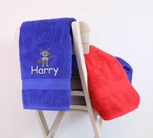 Children's Robot Towel