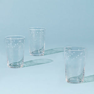 Set Of Six Star Design Tumblers - drink & barware