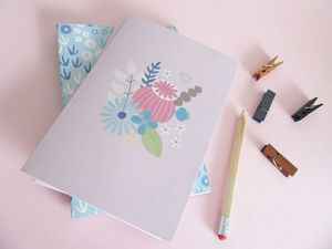 A5 Botanical Notebook Or Journal In Pink