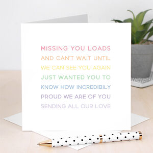 Rainbow Proud Of You Card