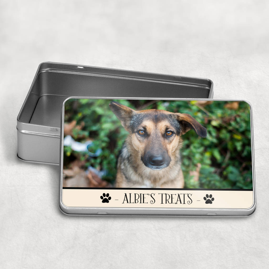 Personalised Photo Dog Treat Biscuit Tin