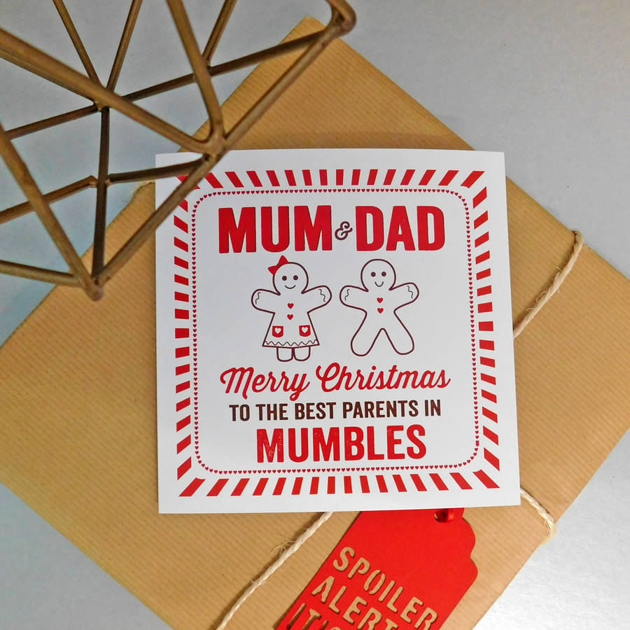 personalised best parents christmas card by allihopa ...
