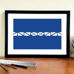'Bullens Balcony' Football Stadium Design Art Print - activities & sports