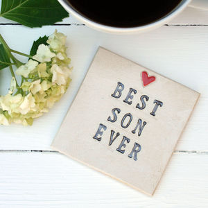 Best Son Ever Ceramic Coaster