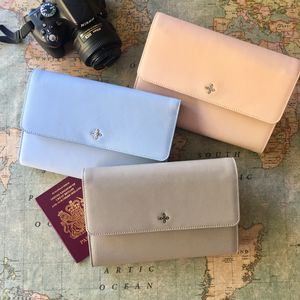 Leather Travel Wallet Passport Currency Organiser