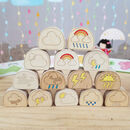 Handcrafted Wooden Weather Blobs