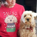 Personalised Dog Lover Christmas Sweatshirt Jumper