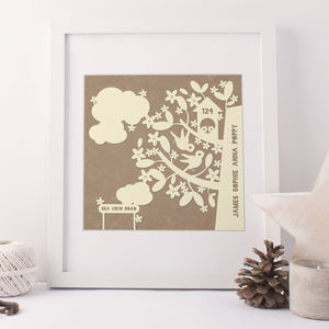 Personalised Family House Print - family & home