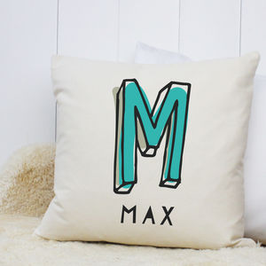 Personalised 'Initial' Cushion - baby's room