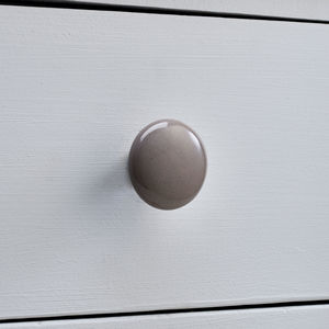 Grey And White Ceramic Cupboard Door Knobs