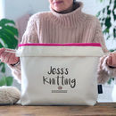 Personalised Drawstring Knitting Project Bag