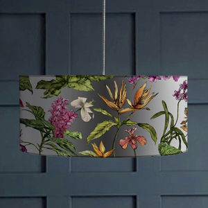 Tropical Hothouse Botanical Print Lampshade - new season lighting