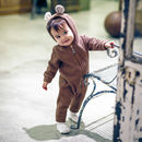 Bambi Winter Hooded Jumpsuit Brown Front Lifestyle