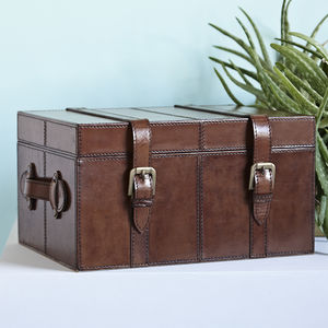 Leather Keepsake Trunk - personalised