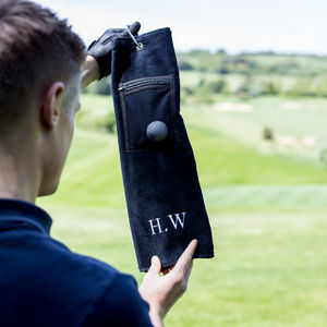 Personalised Zip Pocket Golf Towel