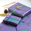 Peacock Christmas Wrapping Paper Set