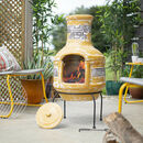 Inti Two Piece Clay Chiminea With Grill
