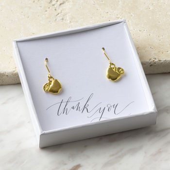 Golden Apple Earrings Thank You Teacher Gift