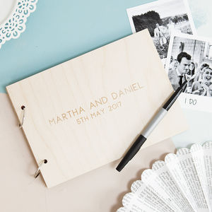 Personalised Minimalist Wedding Guest Book - new in wedding styling