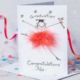 Handmade Personalised Graduation Card - cards