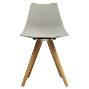 Oslo Chair With Wooden Legs Light Grey