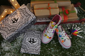 Positive Hearts Colour In Children's Shoes - gifts for tweens