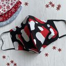 Santa Hat Face Mask With Hepa Filter And Pouch