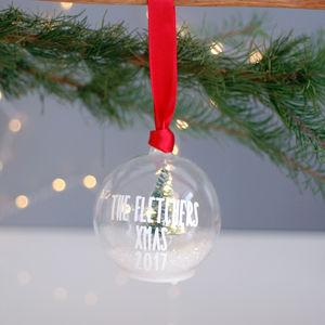 Personalised Christmas Tree Decoration LED Fairy Lights