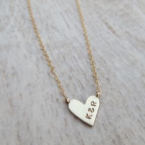 Embossed Baby Heart Necklace - best valentine's gifts for her