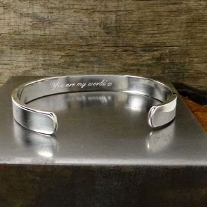 Men's Solid Silver Bracelet Heavy Weight - gifts for him
