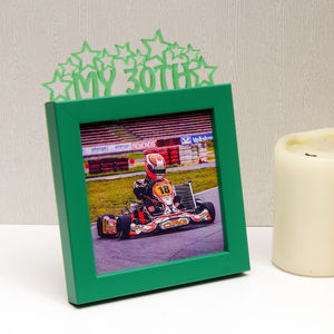 'My 30th' Birthday Mini Photo Frame - picture frames