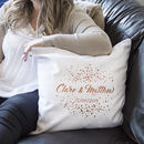 Personalised Wedding Confetti Cushion