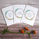Set Of Three Gardening Themed Cards