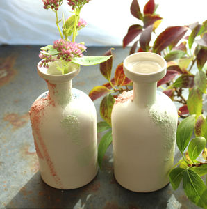 Vintage Bottle Ceramic Vase