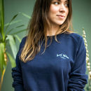Surf Offline Slogan Organic Cotton Jumper