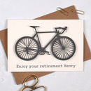 Personalised Bicycle Retirement Sport Card