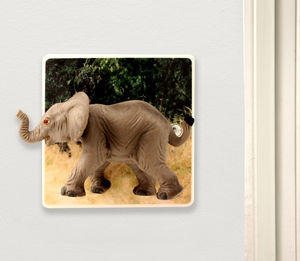 Elephant Light Switch - children's lighting
