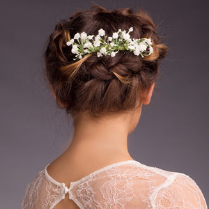 Eva Gypsophila Hair Comb - bridal accessories