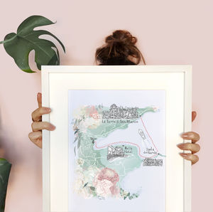 Personalised Travel And Holiday Illustrated Map