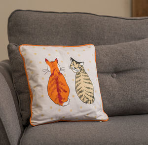 Cats In Waiting Cushion