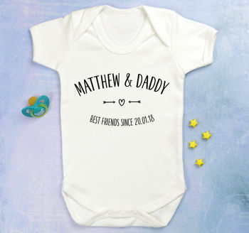 Baby And Daddy Best Friends Babygrow