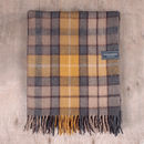 Recycled Wool Blanket In Natural Buchanan Tartan