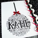 Wife Christmas Bauble Personalised Card