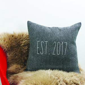 Woolen 'Established' Cushion